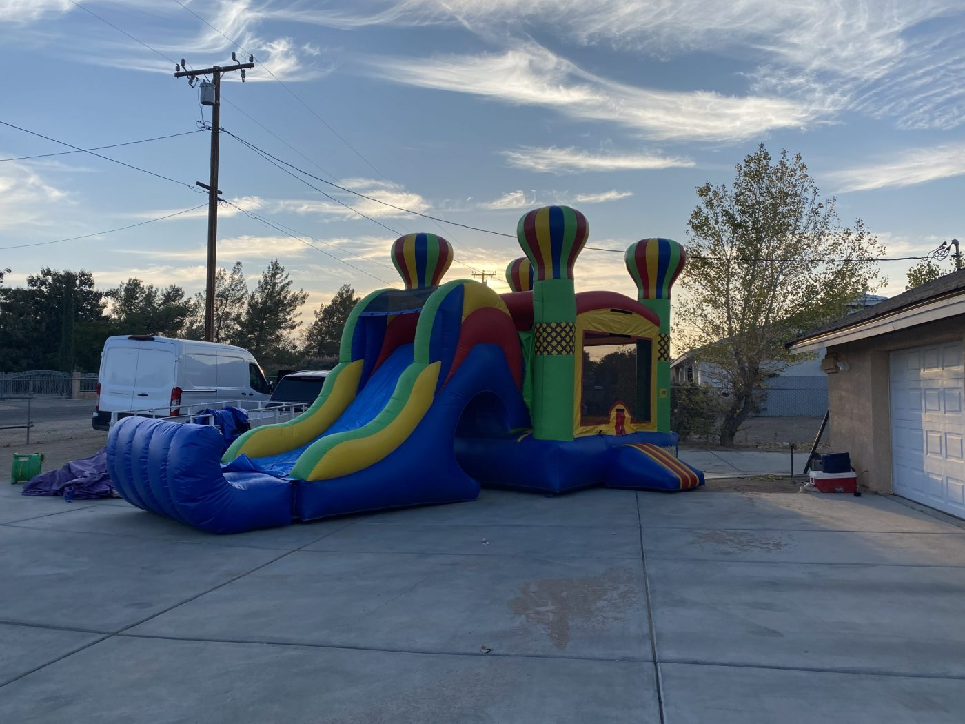 Balloon Bounce House Combo with Large Slide