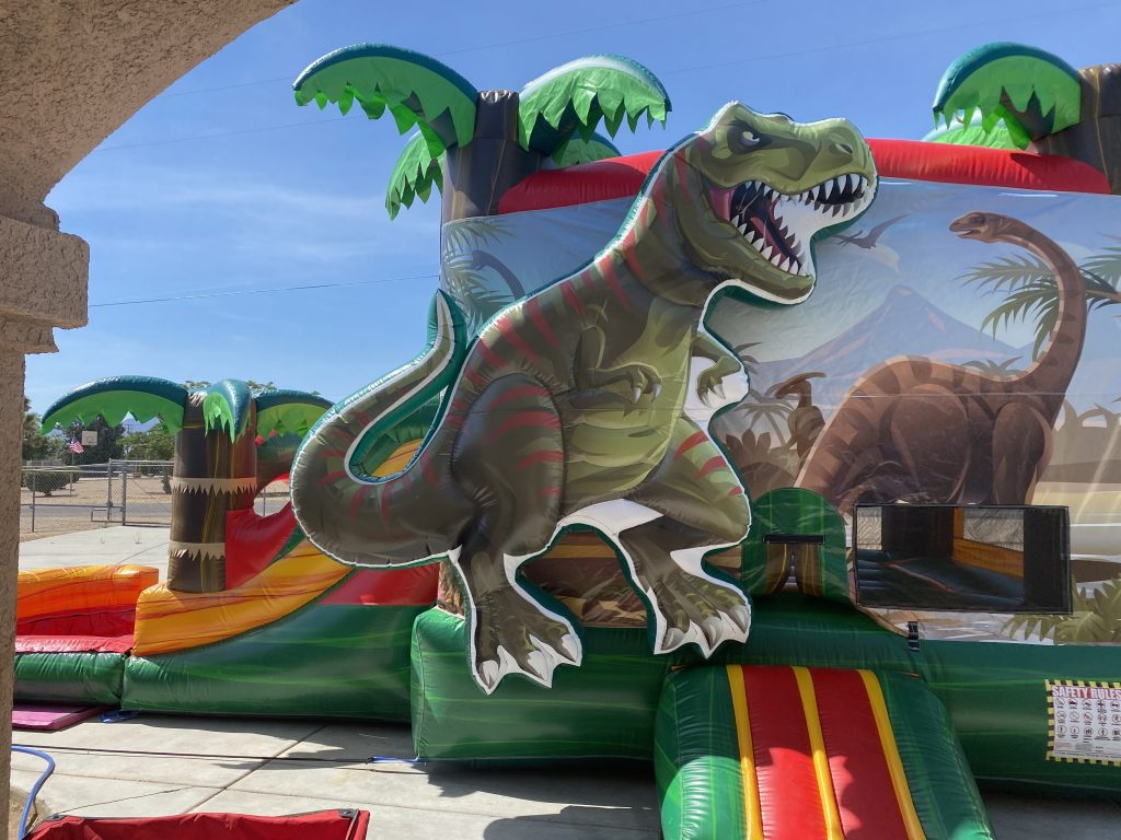 Dinosaur Bounce House Combo Waterslide