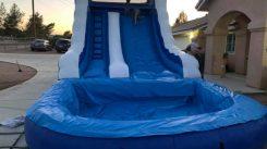 Baby blue 14 foot slide