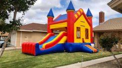 Large bounce house combo slide