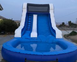 14 foot waterslide blue and white